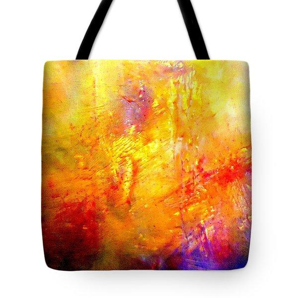 Galaxy Afire Tote Bag