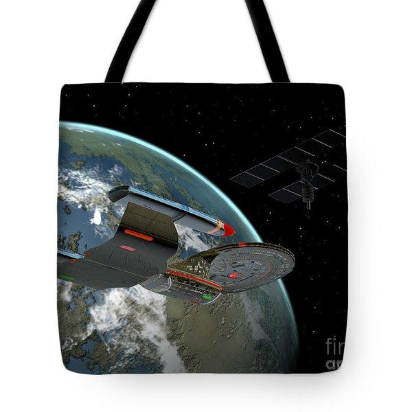 Galaxy Class Star Cruiser Tote Bag