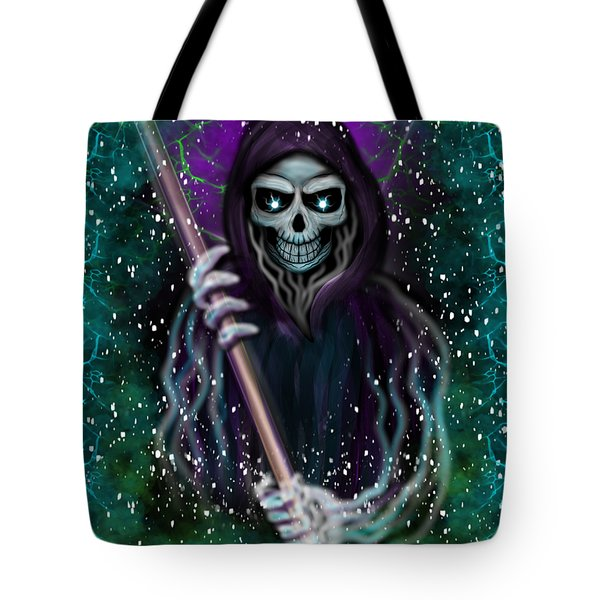 Galaxy Grim Reaper Fantasy Art Tote Bag