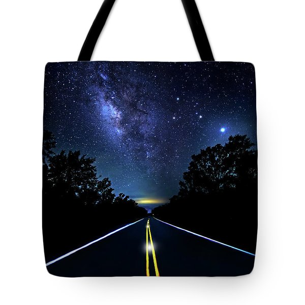 Tote Bag featuring the photograph Galaxy Highway by Mark Andrew Thomas