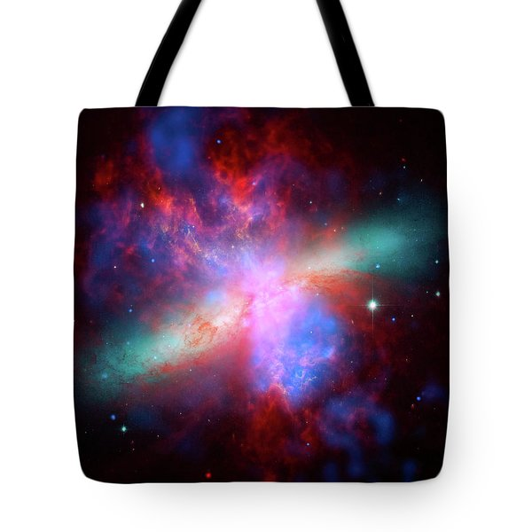 Tote Bag featuring the photograph Galaxy M82 by Marco Oliveira