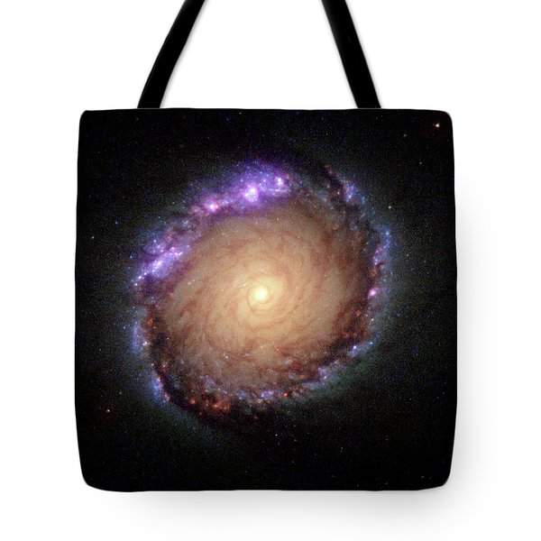 Galaxy Ngc 1512 Tote Bag by Hubble Space Telescope