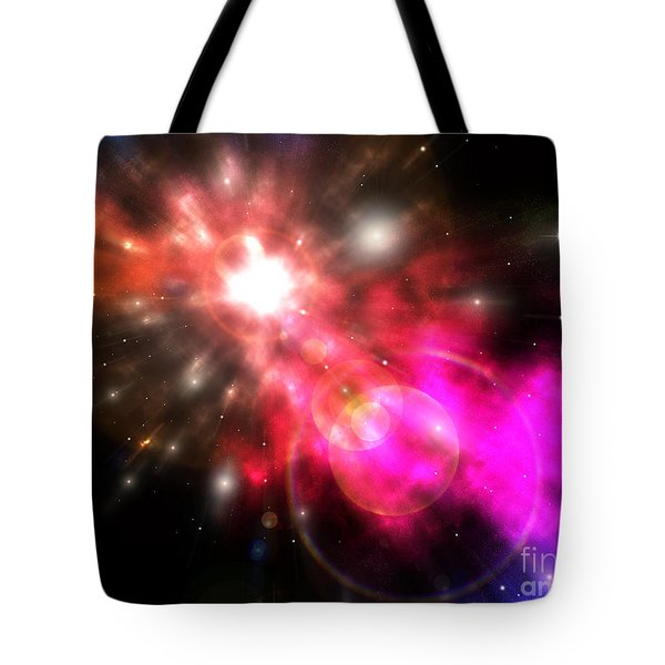 Tote Bag featuring the digital art Galaxy Of Light by Phil Perkins