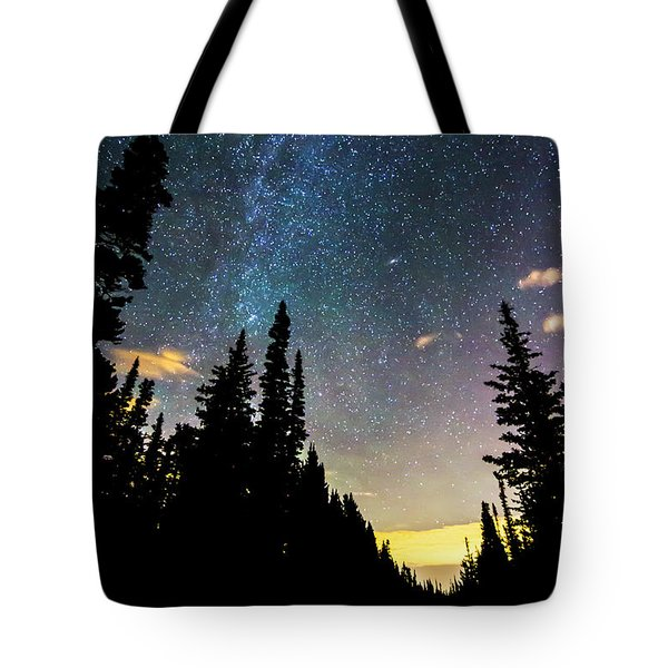 Tote Bag featuring the photograph  Galaxy Rising by James BO Insogna