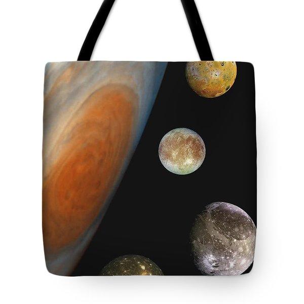 Galilean Moons Of Jupiter Tote Bag