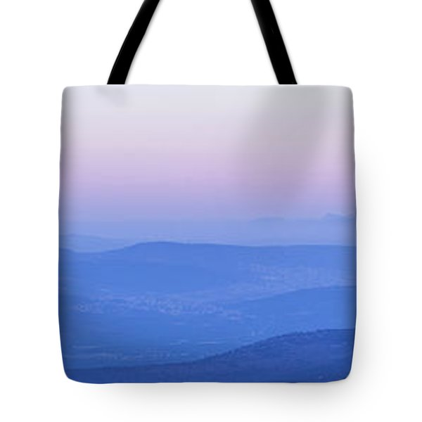 Tote Bag featuring the photograph Galilee Mountains Sunset by Yoel Koskas