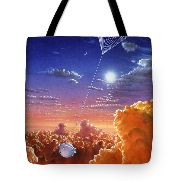Galileo Space Probe Tote Bag by Lionel Bret and Photo Researchers