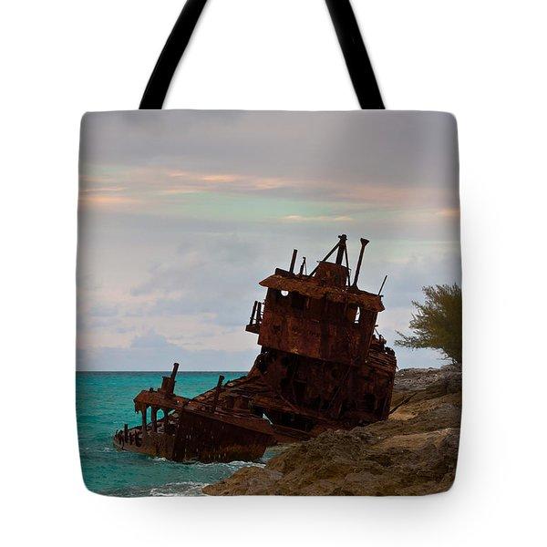 Gallant Lady Aground Tote Bag by Ed Gleichman