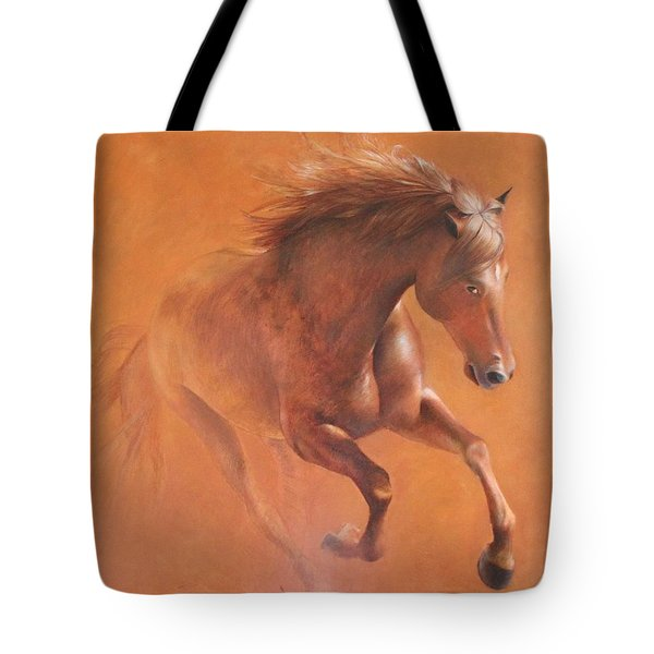 Gallop In The Desert Tote Bag