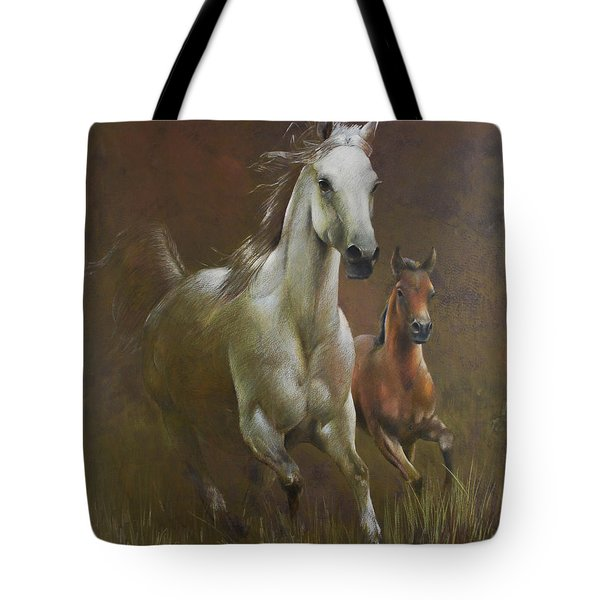 Gallop In The Eyelash Of The Morning Tote Bag