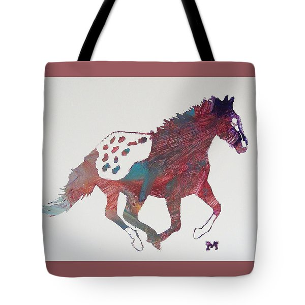 Galloping Apaloosa Tote Bag