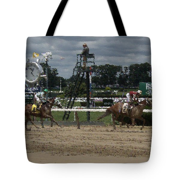 Galloping Out Painting Tote Bag