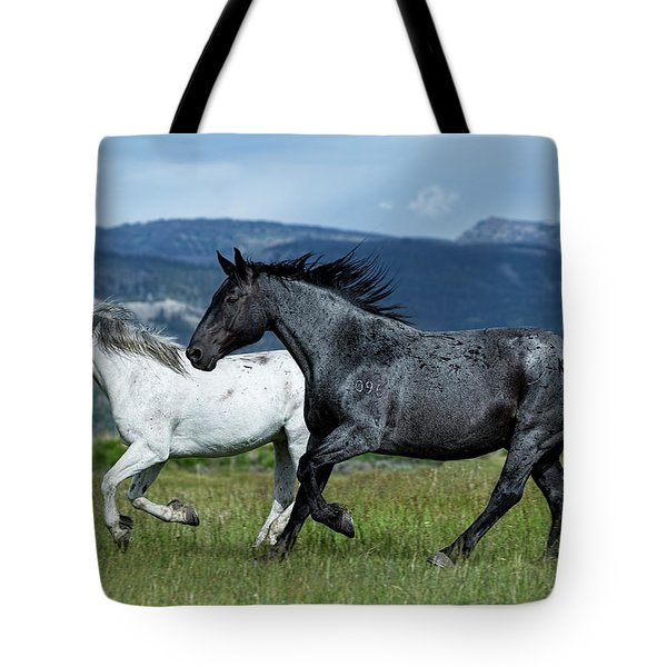Galloping Through The Scenery Tote Bag