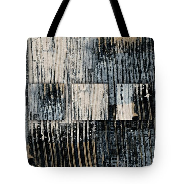 Tote Bag featuring the mixed media Galvanized Paint Number 1 Horizontal by Carol Leigh