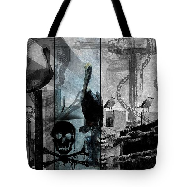 Galveston - Home To Pirates And Pelicans Tote Bag by Karl Reid