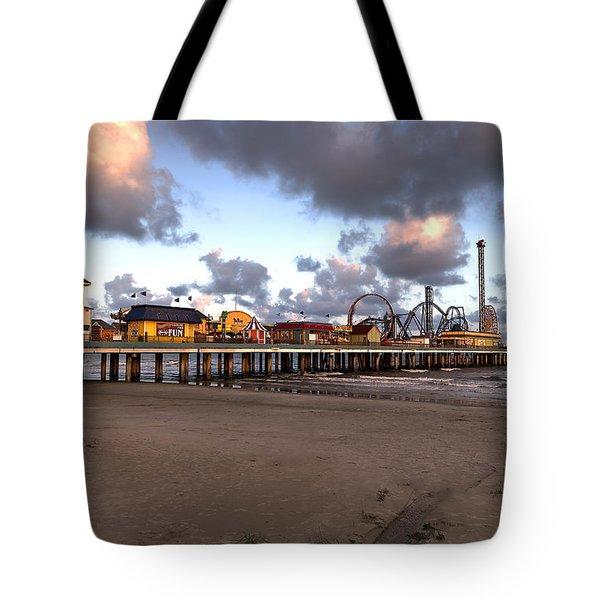 Galveston Island Historic Pleasure Pier Tote Bag