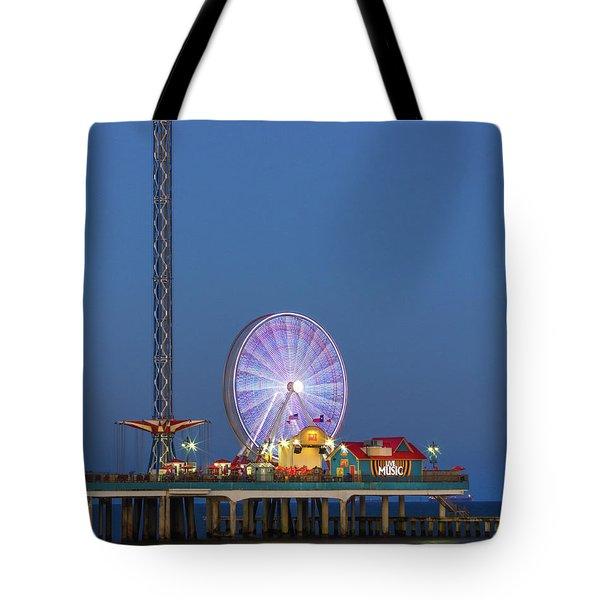 Galveston Pier  Tote Bag