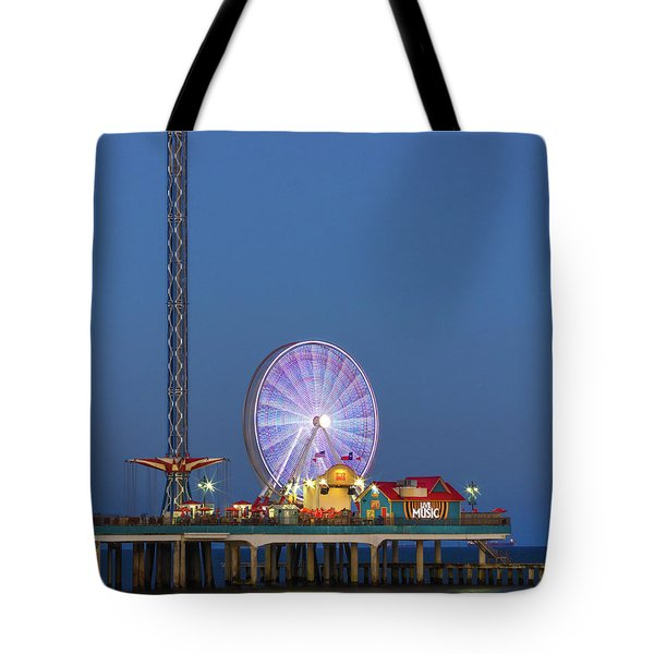 Galveston Pier  Tote Bag