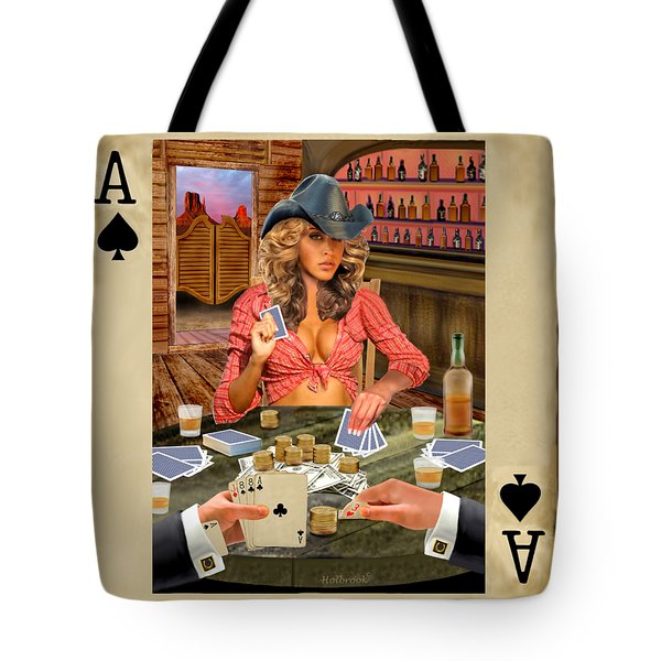 Gamblin' Cowgirl Tote Bag
