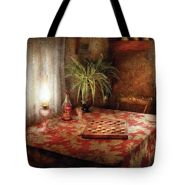 Game - Checkers - Checkers Anyone Tote Bag by Mike Savad