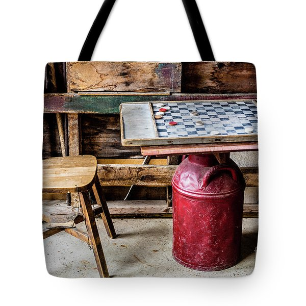 Game Of Checkers Tote Bag by M G Whittingham