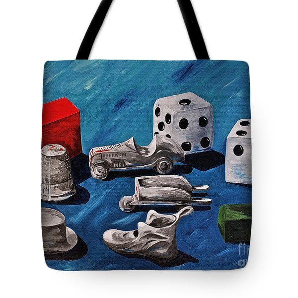 Game Pieces Tote Bag by Herschel Fall