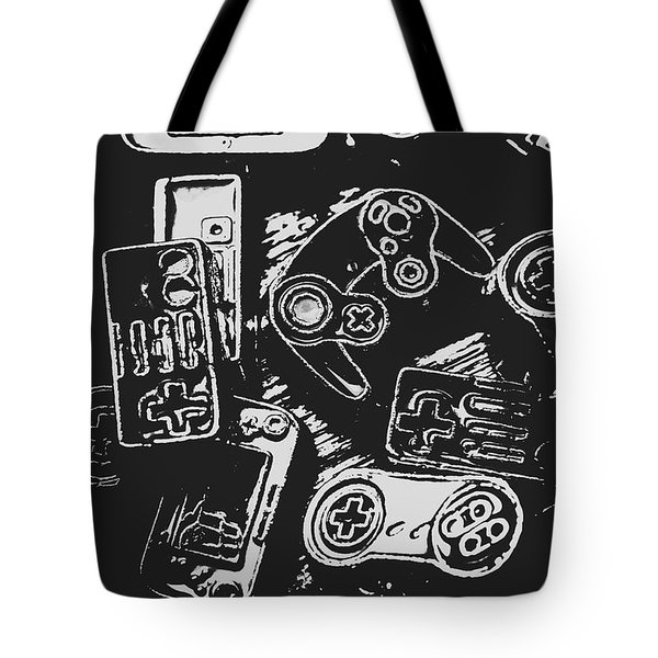 Game Play In Blocks And Lines Tote Bag