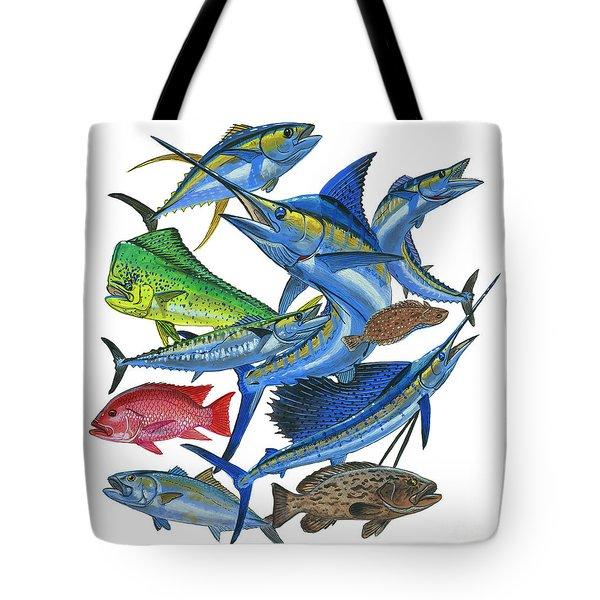 Gamefish Collage Tote Bag