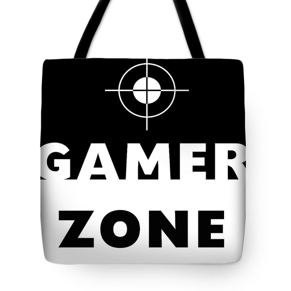 Tote Bag featuring the mixed media Gamer Zone- Art By Linda Woods by Linda Woods