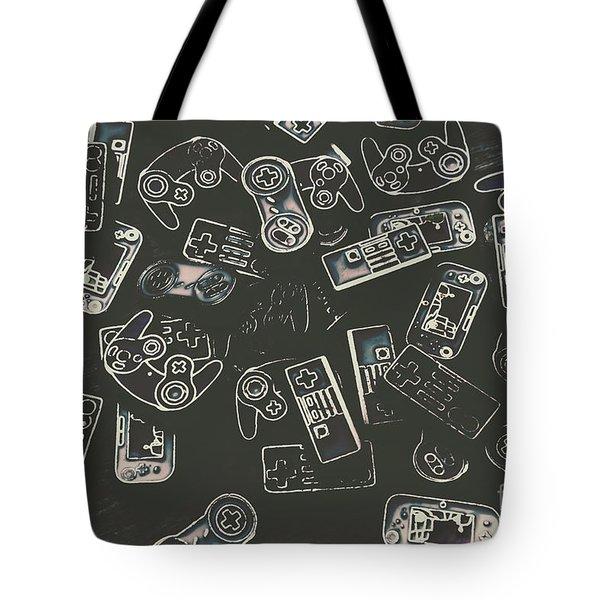 Gamers Of Arcade  Tote Bag