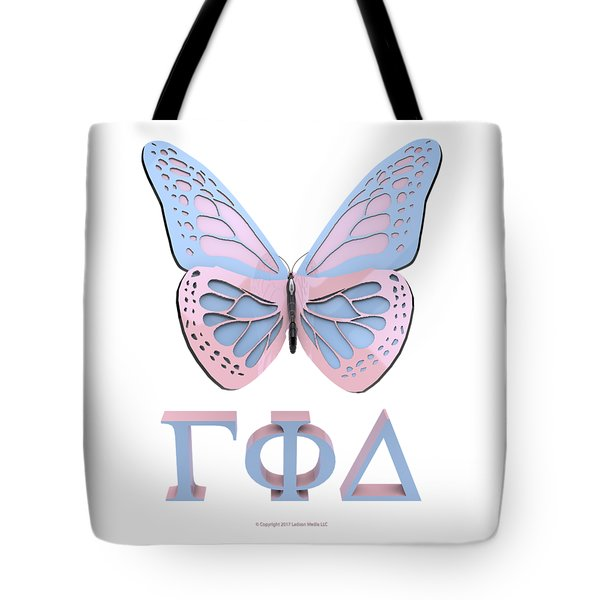 Gamma Butterfly Wings 3d Tote Bag