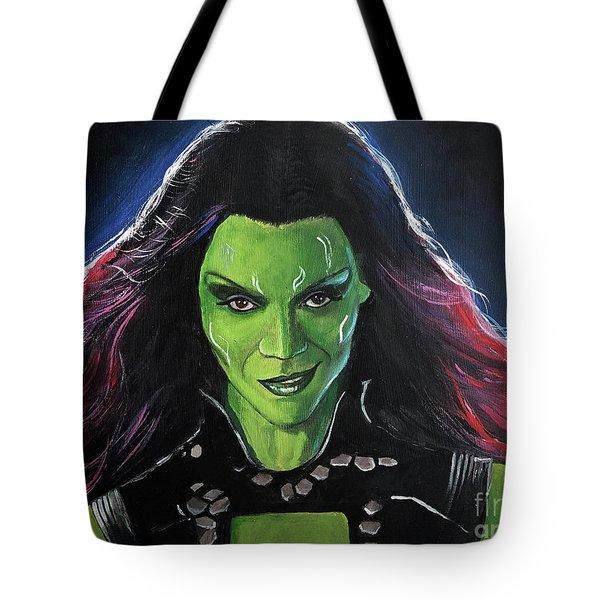 Gamora Tote Bag by Tom Carlton
