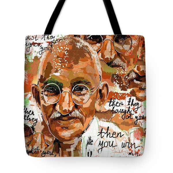 Gandhi Wins  Tote Bag by Sladjana Lazarevic