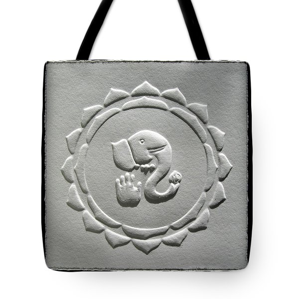 Tote Bag featuring the relief Ganesha Blessings by Suhas Tavkar