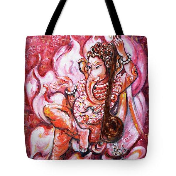 Ganesha - Enjoying Music Tote Bag