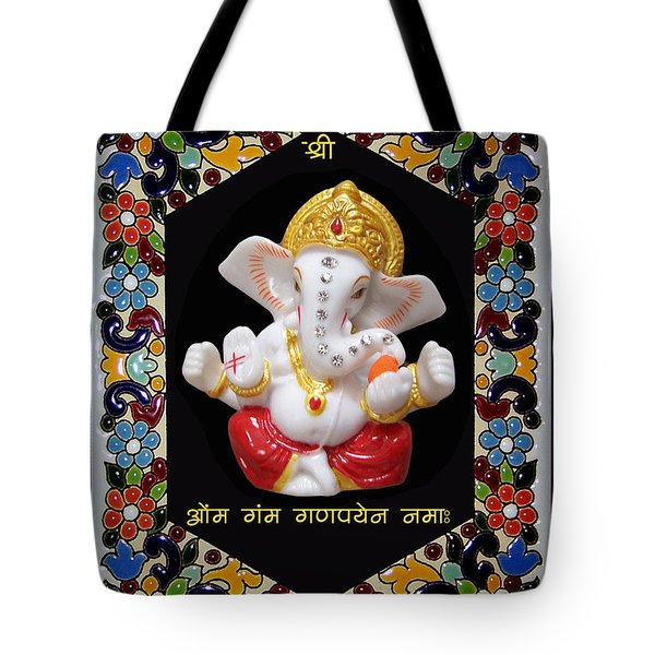 Ganesha Frame Tote Bag