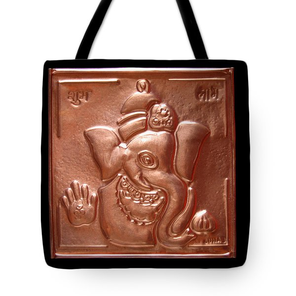 Tote Bag featuring the relief Ganesha by Suhas Tavkar
