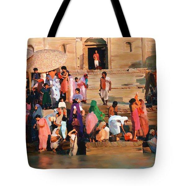 Ganges Tote Bag by Kurt Van Wagner