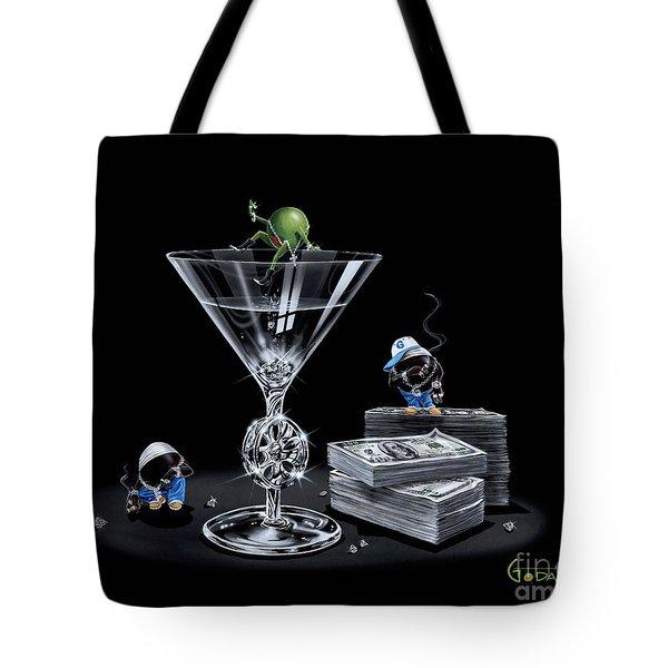 Gangsta Martini Livin' Large Tote Bag