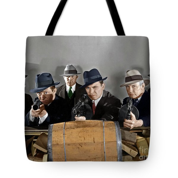 Tote Bag featuring the photograph Gangsters by Granger