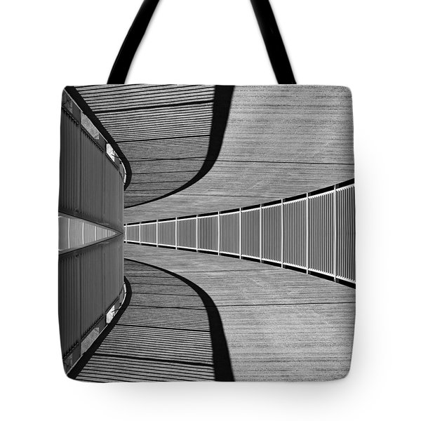 Tote Bag featuring the photograph Gangway by Chevy Fleet