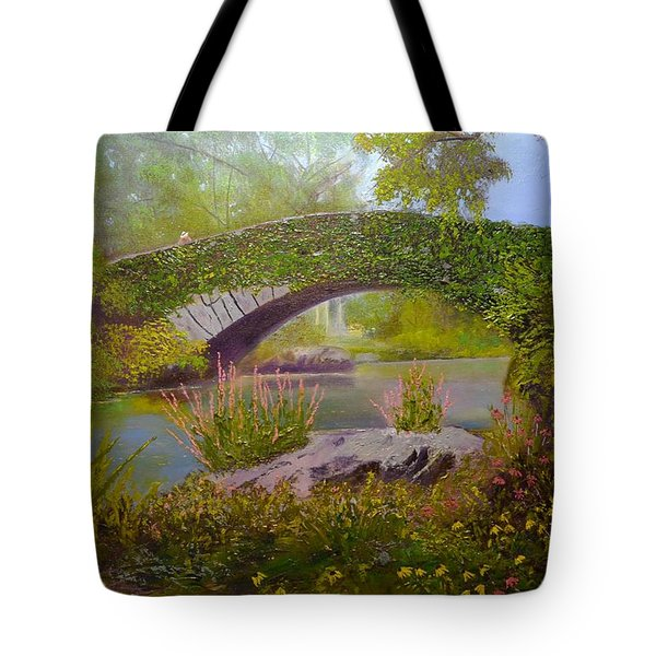 Gapstow Bridge Central Park Tote Bag