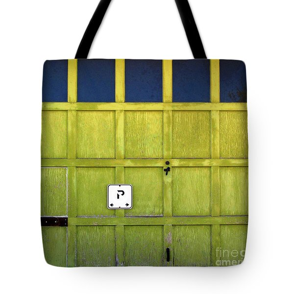 Garage Door Tote Bag