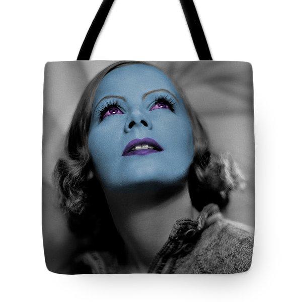 Garbo In Blue Tote Bag
