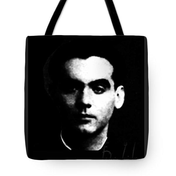Tote Bag featuring the digital art Garcia Lorca by Asok Mukhopadhyay