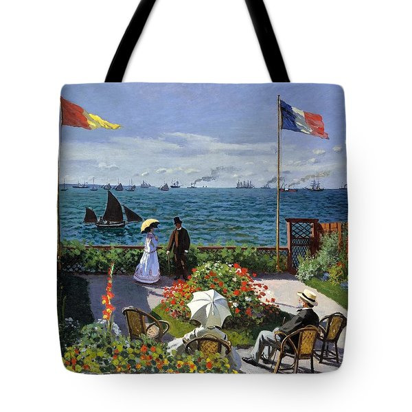 Garden At Sainte Adresse By Claude Monet Tote Bag