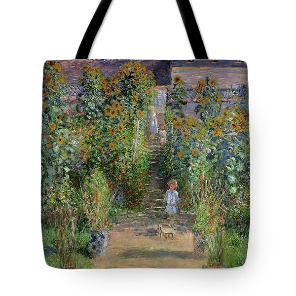 Garden At Vetheuil Tote Bag By Claude Monet