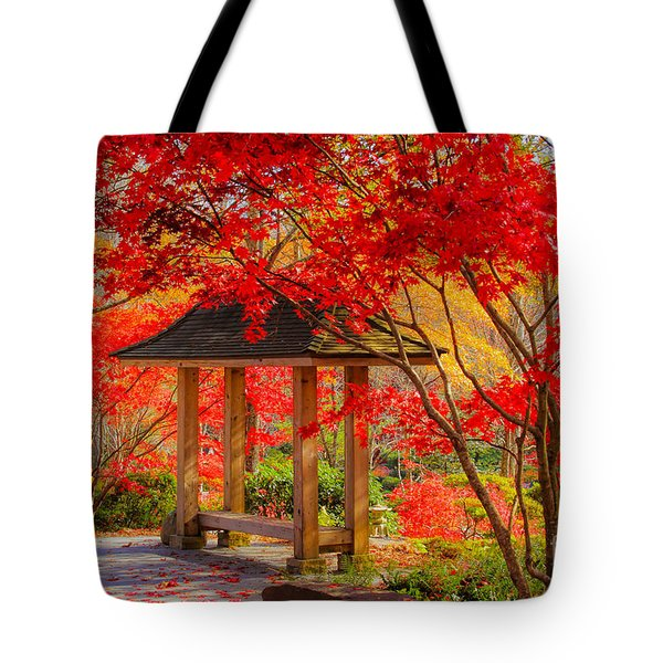 Tote Bag featuring the photograph Garden Bench by Geraldine DeBoer