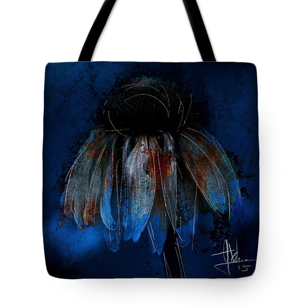 Garden Blue Tote Bag by Jim Vance