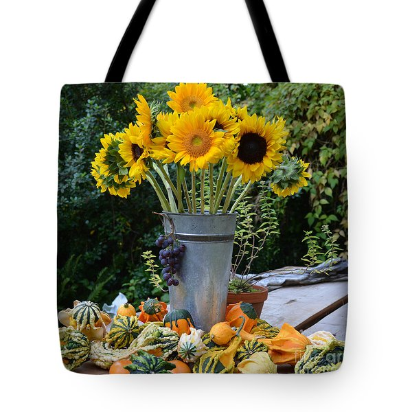 Garden Bounty In Yellow And Green Tote Bag